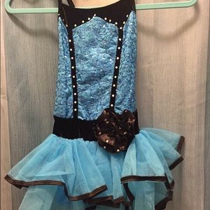 blue dance costume